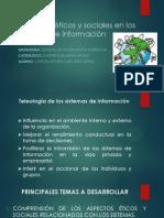 Presentacion Aspectos Éticos y Sociales en Los Sistemas de Informacion