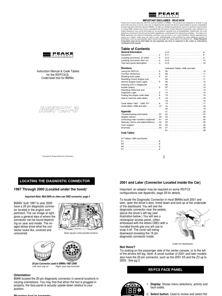 BMW CODES | Ignition System | Fuel Injection