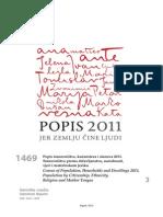 Popis 2011 Hrvatska državljanstvo, narodnost, vjera, materinski jezik
