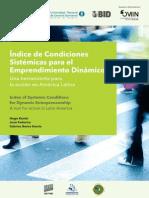 Kantis 2014 Indice de Condiciones Sistémicas Para El Emprendimiento Dinámico