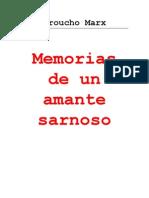 GROUCHO MARX - Memorias de Un Amante Sarnoso