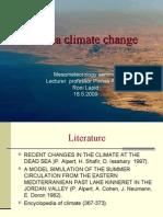 Dead sea climate change