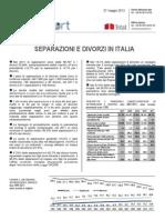Separazioni e Divorzi in Italia - 27-Mag-2013 - Testo Integrale