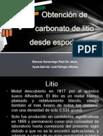 litio carbonato