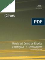 Claves N° 1 - Revista del Centro de Estudios Estratégicos y Criminológicos de Carabineros de Chile