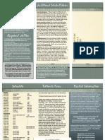 Studio Policy Brochure