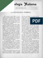 Sociologia Criminal