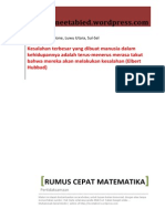 Rumus Cepat Matematika - Pertidaksamaan