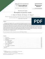 Biosorption of Precious Metals