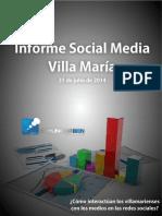 Informe Social Media Villa María - julio 2014