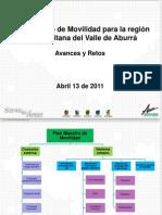 Presentación- Plan Maestro de Movilidad Para La Región Metropolitana Del Valle de Aburrá, 2011
