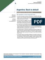 Credit Suisse-Escenarios Para La Argentina