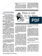 1989 Issue 4 - When to Call for the Elders - Counsel of Chalcedon