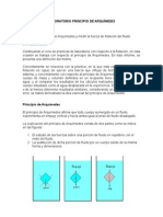 Laboratorio Principio de Arquímides Frijol