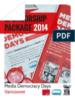 MDD Sponsorship Package 2014