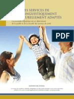 Étude sur les services de santé linguistiquement et culturellement adaptés