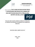 2010_Arista_Motivación de Logro en Educación Física y Capacidades Motrices en Alumnos de Una Institución Educativa Pública Del Distrito de Bellavista (1)