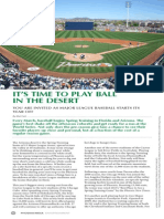 It's Time to Play Ball in the Desert by Matt Seli