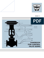 Instrument Control Valve Sizing