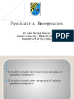 Psychiatric emergencies students