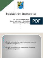 Psychiatric emergencies students