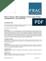 Bloco01 Classificação Fungicidas FRAC Code List2011 Final