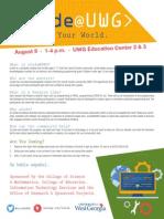 uCode@UWG - Aug 9, 2014