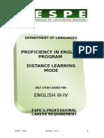 Suficiencia Ingles III-IV
