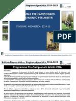 AIA Programma CRA Ciclo Pre-Campionato 14 15 AE