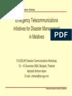 Maldives ITU/ESCAP Disaster Communications Workshop