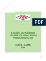Boletinestadistico Enero- Marzo2014