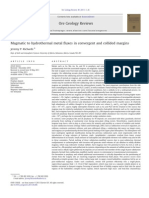 Magmatic to Hydrothermal Metal Fluxes in Convergent and Collided Margins