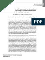 Development and Evaluation of Sustained Release Losartan Potassium Matrix Tablet Using Kollidon SR as Release Retardant