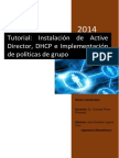 Tutorial_Directorio Activo_DHCP_ Gestion de Cuentas