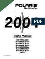 2004 Sportsman 700 - Parts Manual