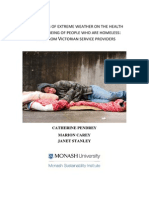 The impacts of extreme weather on the health and well-being of people who are homeless