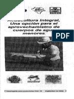 Acuacultura Integral en Cuerpos Deagua Menores