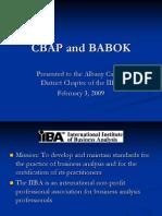 Cbap and Babok