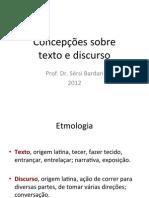 Concepções de Texto e Discurso