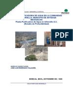 Plan de Negocios Para Planta Potabilizadora en Infiernillo, Mich