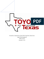 Toyota Texas - Supply Chain