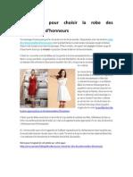 Des Idées Pour Choisir La Robe Des Demoiselles d'Honneur