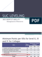 Presentation on Suc Leveling for Management of Resources