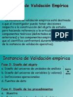 Instancia de Validación Empírica (Fase 3)