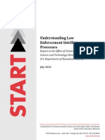 START Understanding Law Enforcement Intelligence Processes July 2014