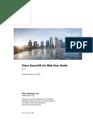 Cisco WSA 8-0-5 User Guide | Proxy Server | World Wide Web