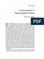 F.H. Parker - A Demonstration of Epistemological Realism
