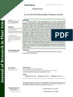 Phytochemical Studies on Selected Medicinal Plant Gymnema Sylvestre.