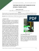 A Software Framework for Dynamic Modeling of Dc Motors at Robot Joints