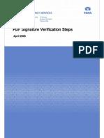 PDF Signature Verification